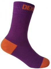 DexShell Ultra Thin Crew Socks, Pink Orange